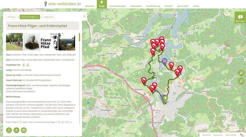 """Franz-Hitze-Pfad"" in Olpe und Umgebung"